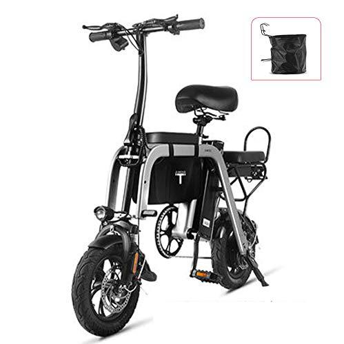 Hxl Elektrisches Fahrrad - Eltern-Kind-Fahrrad, das Stadtfahrrad faltet mit Pedal Batterie Abnehmbar Geeignet für Erwachsene Frauen/Männer