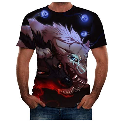 r Neue volle 3D gedruckte T-Shirt Plus Größe S-3XL Cool Printing Top Bluse(XXX-Large,Blau ()