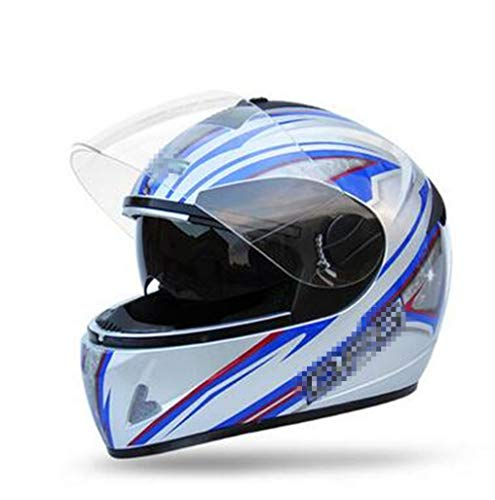 OLEEKA Casco da moto integrale per casco da moto con visiera parasole interna Doppia lente caschi aperti per unisex