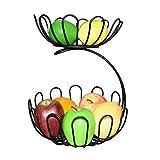 WCS Bowl Céramique beurrier Vaisselle Métal Fruit Basket, Double Lotus Type Panier de rangement Fruit Bowl Living Room Decoration plaque en acier inoxydable panier de vidange Bonbons vaisselle, for Ki