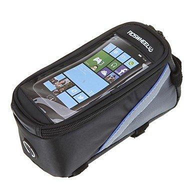 ZXC/ Fahrradtasche Bike Touch-Handy-Taschen Fahrradrahmen Black+Blue