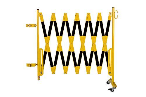 Doc Grille de protection Ciseaux montagekit pour les poteaux de blocage existants (non inclus dans la livraison) 4000 mm, 100 x 100 mm, jaune/noir