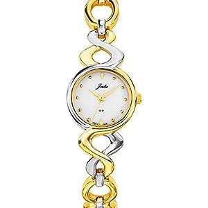 Joalia - 634544 - Montre Femme - Quartz Analogique - Cadran Blanc - Bracelet Métal Bicolore