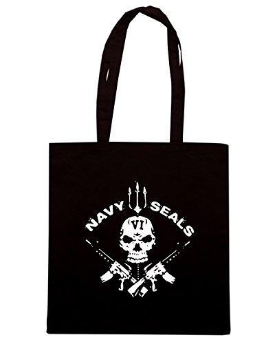T-Shirtshock - Borsa Shopping TM0433 navy seals Nero