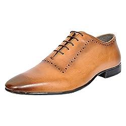 Allen Cooper Mens Tan Leather Oxford Shoes - 6 UK