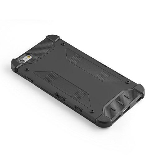 JAMMYLIZARD | Dreiteilige Aluminium Schutzhülle für [ iPhone 6 & 6s 4.7 Zoll ], GOLD Transformer - SCHWARZ