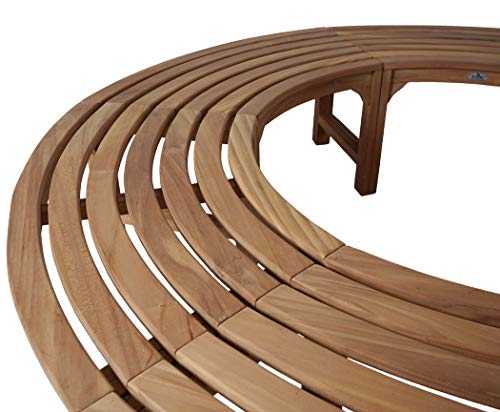 KMH®, 360° Baumbank (Kreis) ohne Rückenlehne aus massivem Teakholz! (#102133) - 2