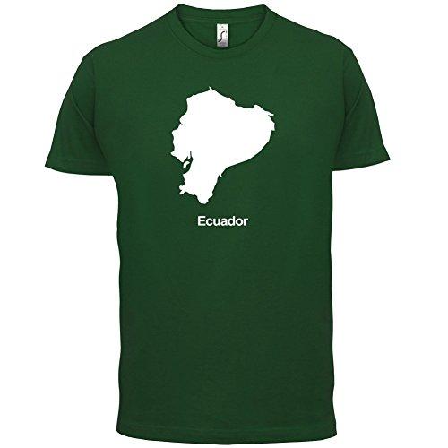 Ecuador / Republik Ecuador Silhouette - Herren T-Shirt - 13 Farben Flaschengrün