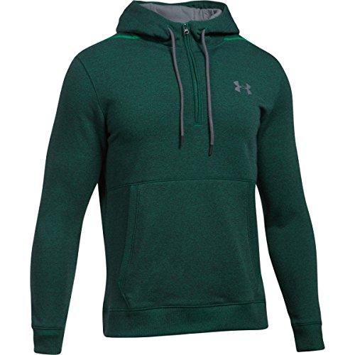 Under Armour 2018 Mens UA Threadborne Fleece 1/2 Zip Pullover Training Sports Hoodie Large Tourmaline Teal/Black (Abdeckung Hoodie Pullover)