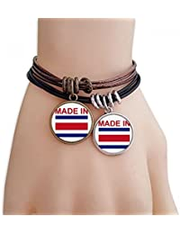 25456164eb64 DIYthinker Hecho en Costa Rica Country Love Pulsera Doble de Cuero Cuerda