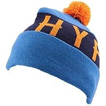 Bonnet à Pompon Hype Bleu et Orange - Mixte