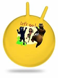 D'Arpèje Il libro della giungla OJB045 - Pallone salterino con 2 antenne, 45 cm