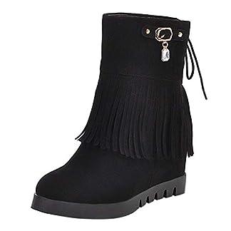 🔷 Love letters 🔷 Women's Boots Ladies Fashion Retro Solid Fringe Thick Short Boots Casual Shoes Female Autumn Shoe 11