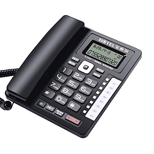 SCJ Modern Corded Telephone/Fixed Telephone/Landline Multifunction Caller ID/Hands-Free Backlight/Screen Rotation Wired Fixed Telephone Home Office Business Big Button Phone -