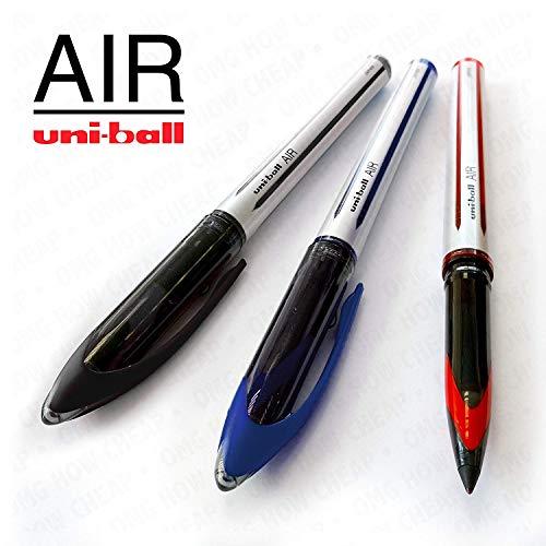3 Medium Luft (Uni-Ball Luft-0,7mm Medium Tintenroller-3Pack-Schwarz, Blau, und rot-uba-188-l)