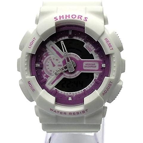 QBD Digital-Analog niños niñas estudiantes deporte reloj digital con alarma Cronómetro Cronógrafo–50m a prueba de
