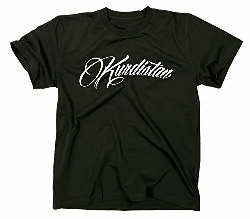 Kurdistan T Shirt, Schriftzug, Schrift, S, schwarz