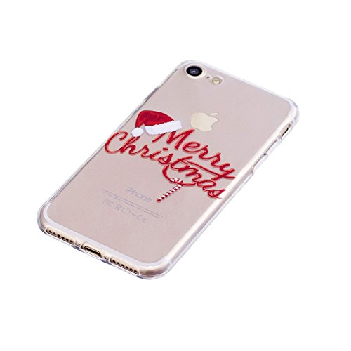 iPhone 7 Copertura,pupazzo di neve Pattern Ultra sottile Custodia in TPU Gel [Transparent] Copertura posteriore in gomma flessibile Copertura protettiva Case for iPhone 7 4.7inch # 11
