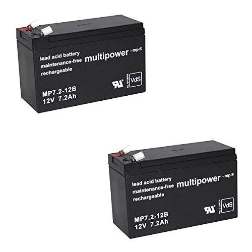 Ersatzakku für Treppenlift Acorn Superglide 120 12V 7,2Ah PB Bleigel NP7-12 Accu Batterie Battery Bateria Akkubatterie
