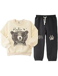 JiAym Baby Kinder Sweatshirt + Hose Set - 2pcs Bekleidungssets Dick Sport Anzüge Unisex Trainingsanzüge