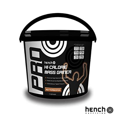 2.25kg Hench Nutrition Pro Hi-calorie Mass Gainer / Weight Gain Whey Protein Powder - Butterscotch by Hench Nutrition