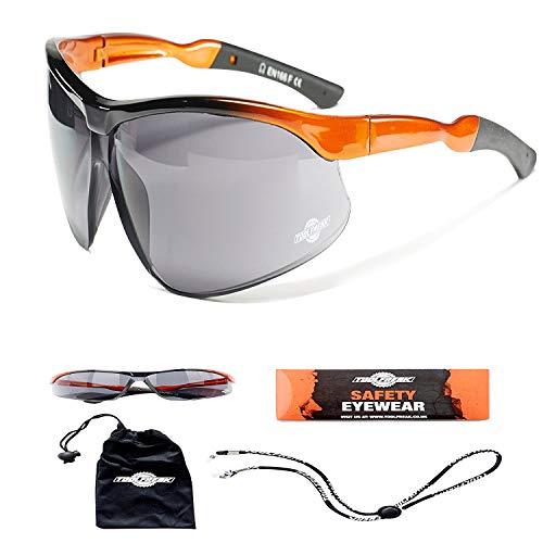 ToolFreak Sicherheits-UV-Schutzbrille für Männer und Frauen, Dunkle Linse