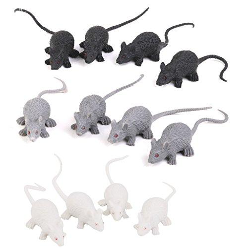 Zeagro 12pcs Kunststoff künstliches Modell Spielzeug (Maus) (Halloween-streiche Besten Die)