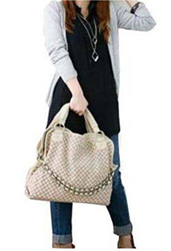 Fashion China , Damen Rucksackhandtasche beige