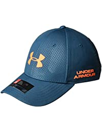 Under Armour, Men'S Golf Headline 2.0 Cap, Cappellino, Uomo, Blu (Techno Teal/Magma Orange), M/L