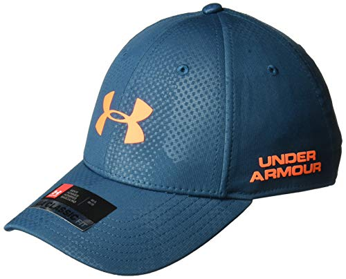 Under Armour Herren Golf Headline 2.0 Cap Kappe, Techno Teal/Magma Orange (489), M/L