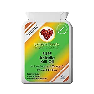 Pure Antarctic Krill oil 500mg x 60 vegan capsules. A Excellent pure product with no added ingredients.