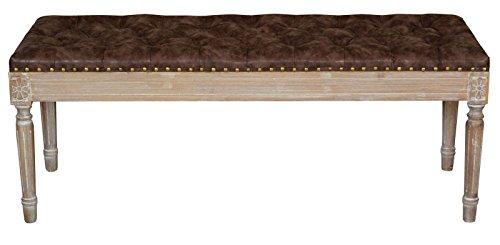mauro ferretti 1419040000 Panca, Legno di Faggio, Foam, Poliuretano, Marrone, 41 x 120 x 47 cm