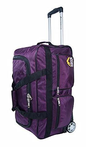 NEW Outdoor Gear Sac fourre-tout à roulettes valise chariot à bagages Sac de voyage taille M 61cm cm Noir violet 60,9cm
