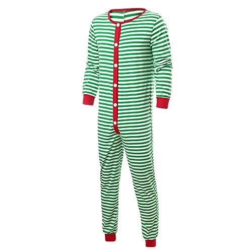 TianWlio Baby Weihnachten Pyjamas Baby Weihnachten Outfit Baby Mädchen Mama und Papa Mama Passende Weihnachtsstreifen Pyjamas für Herren Nachtwäsche für Männer