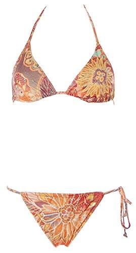 Marisetienne Damen Neckholder Triangel Bikini Orange