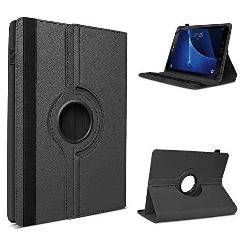UC-Express Tablet Schutzhülle kompatibel für Samsung Galaxy Tab A6 7.0 hochwertiges Kunstleder Hülle Tasche Standfunktion 360° Drehbar Cover Universal Case, Farben:Schwarz
