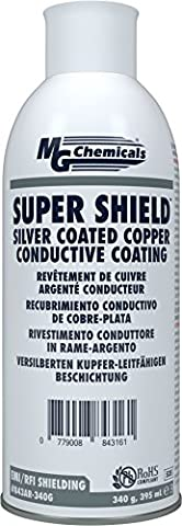 MG Chemicals Silver Coated Copper Conductive Coating, 12 oz Aerosol