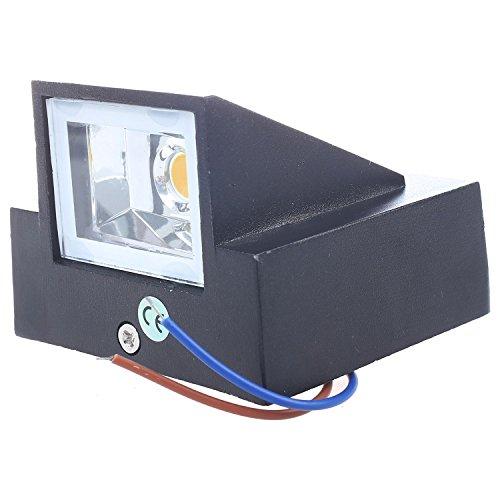 TOOGOO 3W LED Outdoor Aussenwand Schritt nach unten Leuchte Lampe Schwarz Oberflaeche Kaltes Weiss - Led-solid-state-beleuchtung
