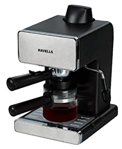 Havells Donato Espresso 900-Watt Stainless Steel Coffee Maker (Black)