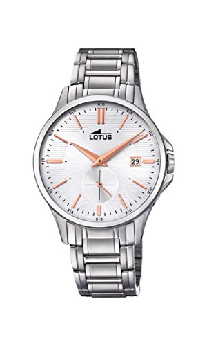 Lotus Watches Mens Analogue Classic Quartz Watch with Stainless Steel Strap 18423/2