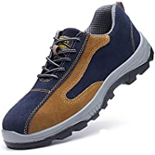 ZYFXZ Zapatos de Seguridad Zapatos de Puntera de Acero Resistentes a puñaladas Masculinos en otoño e