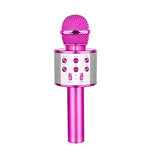 EUTOYZ Jouets pour Fille de 5-12 Ans, 5-12 Ans Fille Jeux Karaoké avec Microphone sans Fil Bluetooth avec Haut-Parleur Jouet Enfant 5-12 Ans Fille(Violette)