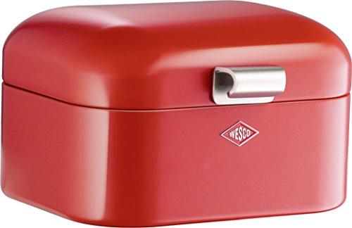 Wesco 235 001 Mini Grandy Brotkasten rot 18 x 17 x 12cm (L/B/H), Edelstahl H&l Mini