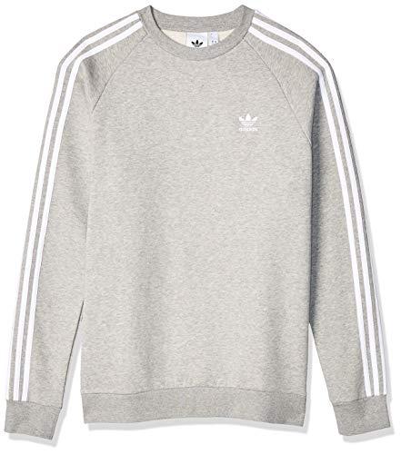adidas pullover 3 stripes herren weiß