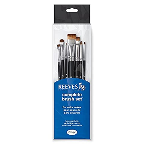 Reeves 82105077Watercolour Painting Short Handle, 1x 10.9x 38.7cm–black