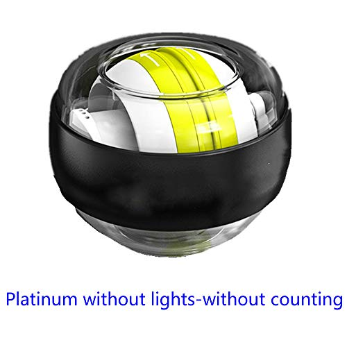 Unbekannt Handballen, Modelle Gyroskope - Handgelenk stark, Griff Siator, Griff Sion Ball Gyro GyroSkope- Selbststart kein Licht - Platin gelb