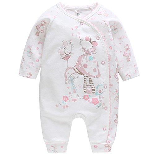 Baby Strampler Spielanzug Jungen Mädchen - Schlafanzug Baumwolle Overalls Baby-Nachtwäsche, 3-6 Monate (Pyjama-3 Monate)