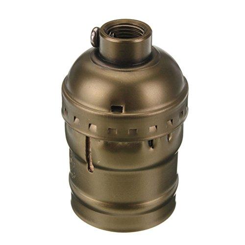 SCSY-Glühbirne 54x31mm Vintage Aluminium Licht Lampe Basis Halter Pendelleuchte Halter mit E27 Schraube (Color : Bronze)