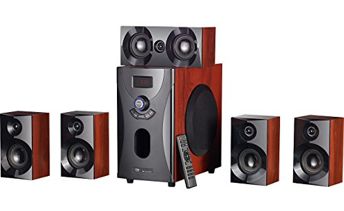 auvisio 5 1 Soundsystem: Home-Theater Surround-Sound-System 5.1, 160 Watt, MP3/Radio, Holzoptik (Heimkinoanlage)