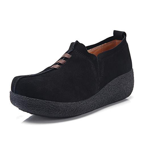 Zapatos Mocasines Plataforma Mujer Casual Moda Loafers
